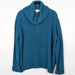Caslon Teal Cowl Neck Sweater NWT Size MP